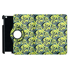 Black And Yellow Pattern Apple Ipad 3/4 Flip 360 Case by linceazul