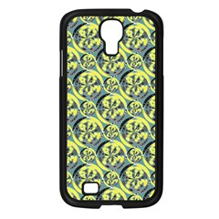 Black And Yellow Pattern Samsung Galaxy S4 I9500/ I9505 Case (black) by linceazul