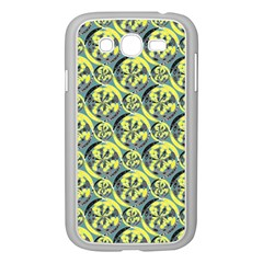 Black And Yellow Pattern Samsung Galaxy Grand Duos I9082 Case (white) by linceazul