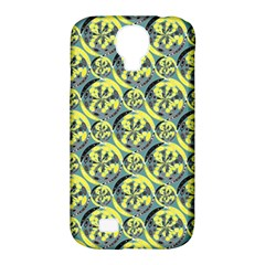 Black And Yellow Pattern Samsung Galaxy S4 Classic Hardshell Case (pc+silicone) by linceazul