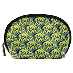 Black And Yellow Pattern Accessory Pouches (large)  by linceazul