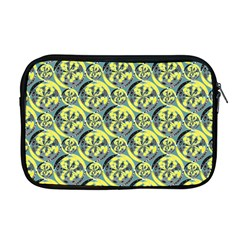 Black And Yellow Pattern Apple Macbook Pro 17  Zipper Case by linceazul