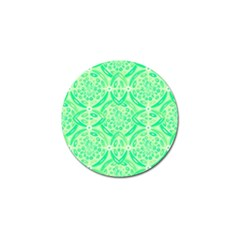 Kiwi Green Geometric Golf Ball Marker (10 Pack) by linceazul