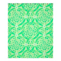 Kiwi Green Geometric Shower Curtain 60  X 72  (medium)  by linceazul