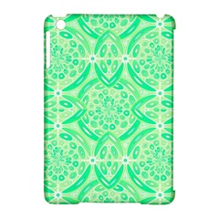 Kiwi Green Geometric Apple Ipad Mini Hardshell Case (compatible With Smart Cover) by linceazul