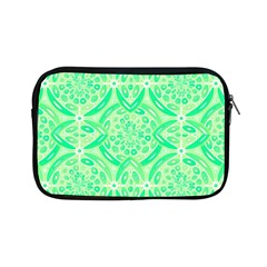 Kiwi Green Geometric Apple Ipad Mini Zipper Cases by linceazul