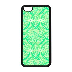 Kiwi Green Geometric Apple Iphone 5c Seamless Case (black) by linceazul