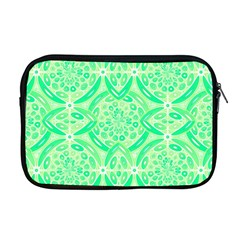 Kiwi Green Geometric Apple Macbook Pro 17  Zipper Case by linceazul