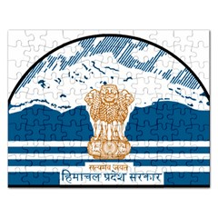 Seal Of Indian Sate Of Himachal Pradesh Rectangular Jigsaw Puzzl by abbeyz71