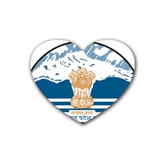 Seal Of Indian Sate Of Himachal Pradesh Heart Coaster (4 Pack)  by abbeyz71