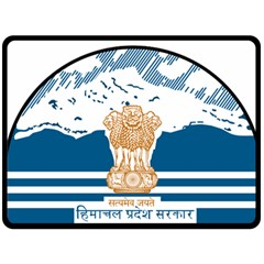 Seal Of Indian Sate Of Himachal Pradesh Fleece Blanket (large)  by abbeyz71