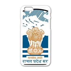 Seal Of Indian Sate Of Himachal Pradesh Apple Iphone 6/6s White Enamel Case by abbeyz71