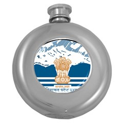 Seal Of Indian Sate Of Himachal Pradesh Round Hip Flask (5 Oz) by abbeyz71