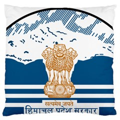 Seal Of Indian Sate Of Himachal Pradesh Large Flano Cushion Case (one Side) by abbeyz71