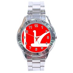 Flag Of Indian State Of Jammu And Kashmir  Stainless Steel Analogue Watch by abbeyz71