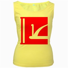 Flag Of Indian State Of Jammu And Kashmir Women s Yellow Tank Top by abbeyz71
