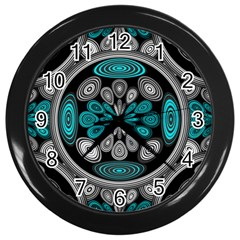 Geometric Arabesque Wall Clocks (black)