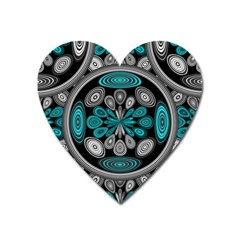 Geometric Arabesque Heart Magnet by linceazul