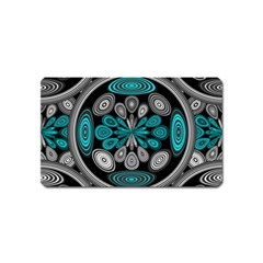 Geometric Arabesque Magnet (name Card) by linceazul