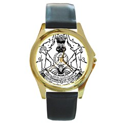 Seal Of Indian State Of Kerala  Round Gold Metal Watch by abbeyz71