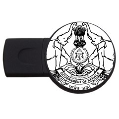 Seal Of Indian State Of Kerala  Usb Flash Drive Round (2 Gb) by abbeyz71