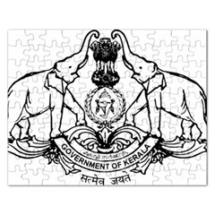 Seal Of Indian State Of Kerala  Rectangular Jigsaw Puzzl by abbeyz71