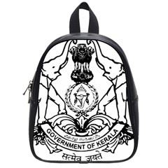 Seal Of Indian State Of Kerala  School Bags (small)  by abbeyz71
