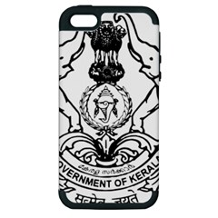 Seal Of Indian State Of Kerala  Apple Iphone 5 Hardshell Case (pc+silicone) by abbeyz71