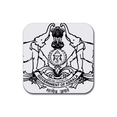 Seal Of Indian State Of Kerala Rubber Square Coaster (4 Pack)  by abbeyz71