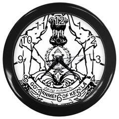 Seal Of Indian State Of Kerala Wall Clocks (black) by abbeyz71