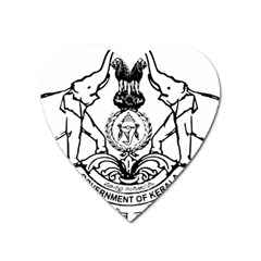 Seal Of Indian State Of Kerala Heart Magnet by abbeyz71