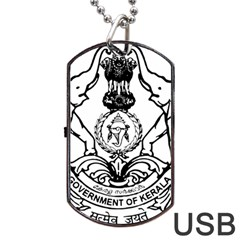 Seal Of Indian State Of Kerala Dog Tag Usb Flash (one Side) by abbeyz71