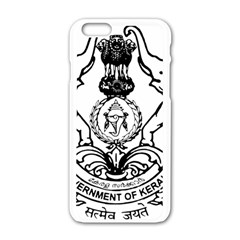 Seal Of Indian State Of Kerala Apple Iphone 6/6s White Enamel Case by abbeyz71