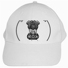 Seal Of Indian State Of Meghalaya White Cap by abbeyz71