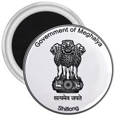 Seal Of Indian State Of Meghalaya 3  Magnets by abbeyz71