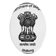 Seal Of Indian State Of Meghalaya Ornament (oval) by abbeyz71