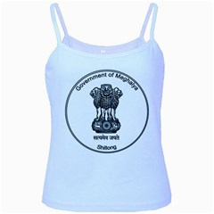 Seal Of Indian State Of Meghalaya Baby Blue Spaghetti Tank by abbeyz71