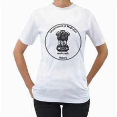 Seal Of Indian State Of Meghalaya Women s T Shirt (white) (two Sided) by abbeyz71