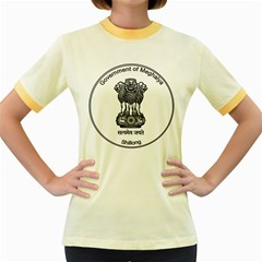 Seal Of Indian State Of Meghalaya Women s Fitted Ringer T Shirts by abbeyz71