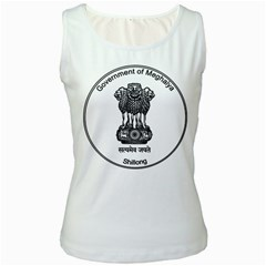 Seal Of Indian State Of Meghalaya Women s White Tank Top by abbeyz71