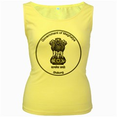 Seal Of Indian State Of Meghalaya Women s Yellow Tank Top by abbeyz71