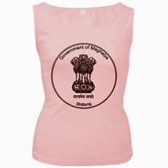 Seal Of Indian State Of Meghalaya Women s Pink Tank Top by abbeyz71