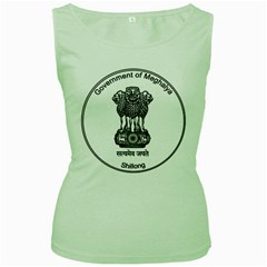Seal Of Indian State Of Meghalaya Women s Green Tank Top by abbeyz71