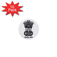 Seal Of Indian State Of Meghalaya 1  Mini Buttons (10 Pack)  by abbeyz71