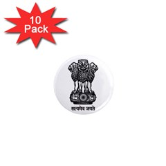 Seal Of Indian State Of Meghalaya 1  Mini Magnet (10 Pack)  by abbeyz71