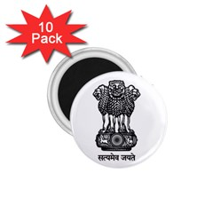 Seal Of Indian State Of Meghalaya 1 75  Magnets (10 Pack)  by abbeyz71