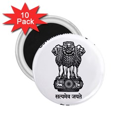 Seal Of Indian State Of Meghalaya 2 25  Magnets (10 Pack)  by abbeyz71