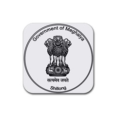 Seal Of Indian State Of Meghalaya Rubber Coaster (square)  by abbeyz71