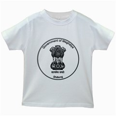 Seal Of Indian State Of Meghalaya Kids White T Shirts by abbeyz71