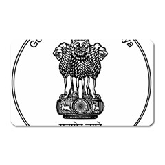 Seal Of Indian State Of Meghalaya Magnet (rectangular) by abbeyz71